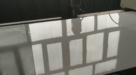 Calcium silicate board automatic fluorocarbon p...
