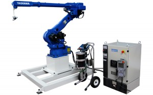 Automatic spray painting robot