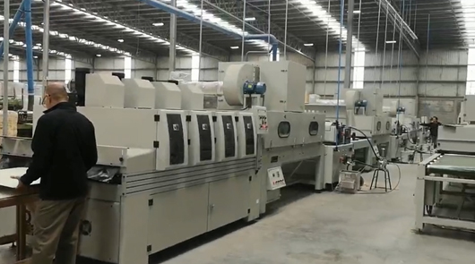 Automatic water based paint roller coating line...