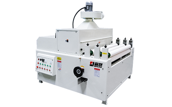 Back coating and curing machine