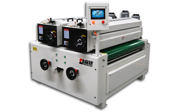 Double roller coating machine