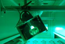 Flip style UV lamp shade