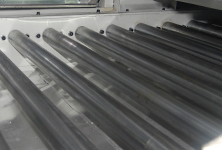 Stainless steel rollers conveyor