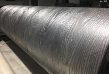 Laser engraved embossing roller